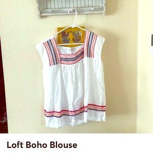 Ann Taylor Loft boho blouse